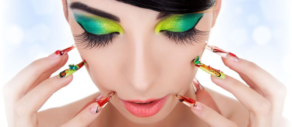 Tasha's Day Spa - colourful nails and make-up